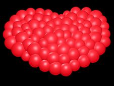 Free 3D-Red Heart Stock Images - 332404