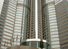 Highrise Office In Hong Kong Closeup Royalty Free Stock Photos