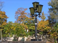 Free Lanterns In Autumn Park Royalty Free Stock Photography - 333187