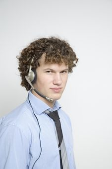 Free Boy With Telephone Headset Stock Photos - 333283
