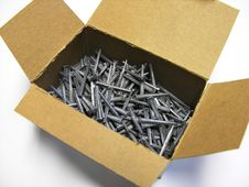 Free Box Of Nails Royalty Free Stock Photo - 333515