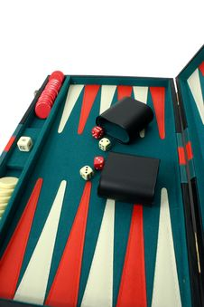 Free Backgammon Over White Stock Image - 334371