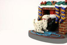 Free Dog Greets Santa Stock Image - 334401