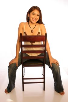 Free Chair Girl 1 Royalty Free Stock Photos - 334698