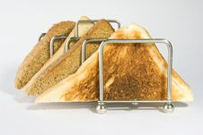 Brown And White Toast Stock Photography