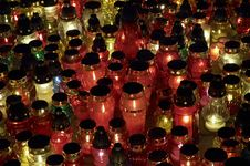 Free Many Candles Closeup Royalty Free Stock Photos - 337308