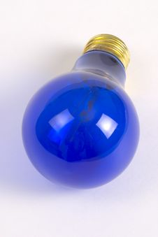 Free Blue Light Bulb Royalty Free Stock Photo - 339335
