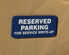 Free Reserved Parking Sign Stock Photo - 339660