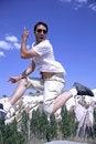 Free Healthy Happy Man Jumping Stock Photos - 3303233