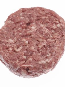 Free Uncooked Raw Beefburger Royalty Free Stock Image - 3300056