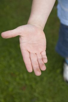 Free Boy Holding Out His Hand Stock Photography - 3300652