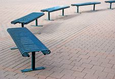 Free Park Benches Royalty Free Stock Photo - 3301125