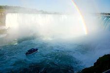 Free Rainbow On Niagara Falls Stock Images - 3302414