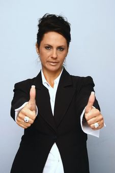 Free Business Woman S Approval Royalty Free Stock Image - 3302586