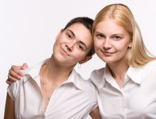 Portrait Of Two Beautiful Girls Royalty Free Stock Image
