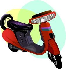 Free Red Scooter Stock Images - 3303094