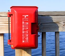 Red Emergency Telephone Royalty Free Stock Photos