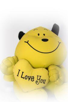 Free I Love You Teddy Bear Royalty Free Stock Image - 3303766