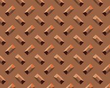 Diamond Plate Short Copper Stock Photo