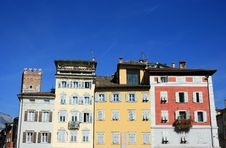 Free Multicolored Houses In Trento Royalty Free Stock Image - 3304986