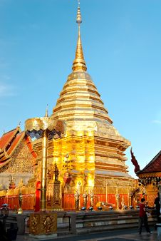 Buddhist Temple In Bangkok Royalty Free Stock Image