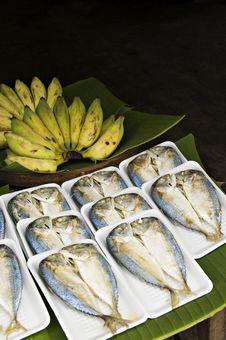 Fish And Banana S Stock Photo