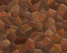 Free Stone Wall Pattern Dark Red Royalty Free Stock Photo - 3306005
