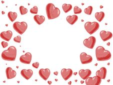Free Frame With Hearts Stock Photos - 3307163
