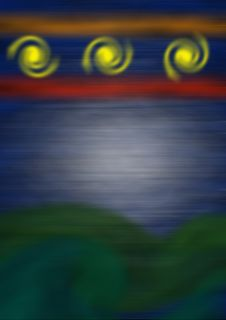 Mystic Lights Stock Image