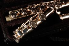 Flute In Case Royalty Free Stock Images