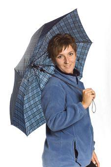 Free Woman With Umbrella Stock Photos - 3308063