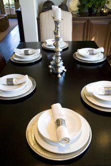 Dining Table 1940 Stock Photo