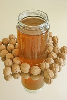 Free Nuts And Honey Stock Images - 3308244