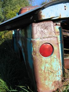 Rusty Truck Taillight Royalty Free Stock Photos