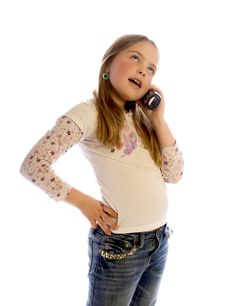 Free Maddy On The Phone Royalty Free Stock Images - 3308349
