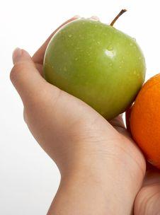 Free Orange And Apple Stock Images - 3308744