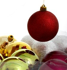 Free Christmas Balls Royalty Free Stock Photo - 3308825