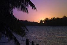Free Tropical Sunset Landscape Royalty Free Stock Images - 3309059
