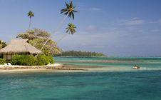 Sandy Tropical Beach 4 Stock Photography