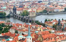 Free The Aerial View Of Prague Royalty Free Stock Photography - 3309467