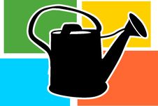 Free Watering Can Stock Photography - 3309582