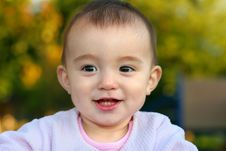 Free Cute Baby Girl Smiling Stock Photography - 3309692