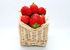 Free Strawberry In The Baskets Royalty Free Stock Images - 3309859