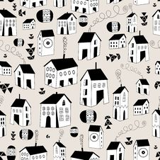 Graphic Texture Houses Stock Images
