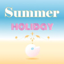 Free Card That Says Summer Holiday Royalty Free Stock Photos - 33001348