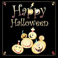 Free Greeting Card For Halloween Stock Images - 33001574