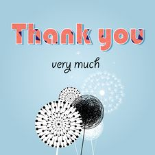 Free Thank You Card, With Font Royalty Free Stock Image - 33001616