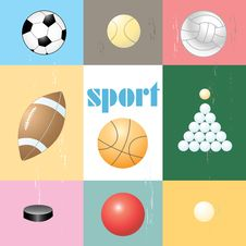 Free Set Of Sports Balls Stock Photo - 33001630