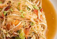 Free Papaya Salad Royalty Free Stock Photos - 33007668