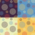 Free Set Of Four Seamless Patterns Royalty Free Stock Images - 33014549